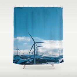 The Wind Farm (Color) Shower Curtain