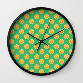 Cool Oranges by Silvana Arias Wall Clock