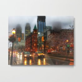 Rainy Foggy Toronto Metal Print