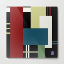 GEOMETRIC ABSTRACT Metal Print