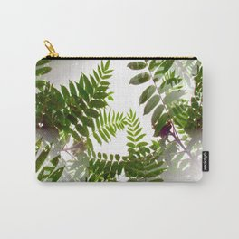 Seamless Green Leaves Carry-All Pouch