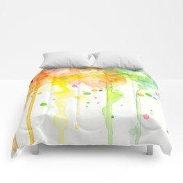 Rainbow Watercolor Pattern Texture Comforters