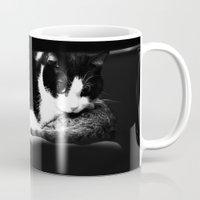because cats Mugs featuring Cats by Falko Follert Art-FF77