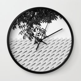 The Broad In the Afternoon Black & White Photography II Wall Clock