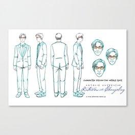 Natalie Close Character Design I Canvas Print