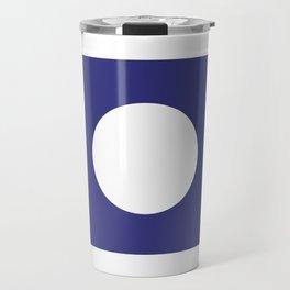 Reverse Purple Hole | White Circle Travel Mug