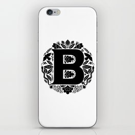 Letter B monogram wildwood iPhone Skin