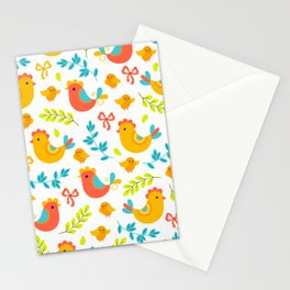 Easter Little Peeps Baby Chicks Pattern Stationery Cards