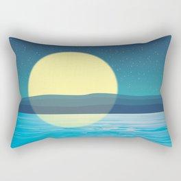 Night at the sea Rectangular Pillow