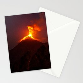 Volcano Eruption Stationery Cards