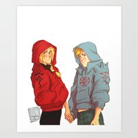 johannathemad Art Prints featuring hoodies by JohannaTheMad