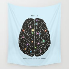 Your Brain On Video Games Wall Tapestry