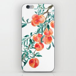 peach watercolor iPhone Skin