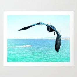 Pelican and Jetski Art Print