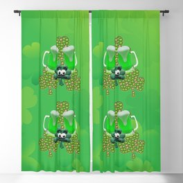 St. Patricks Day Green Beer Blackout Curtain