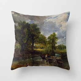 John Constable - The Hay Wain Throw Pillow