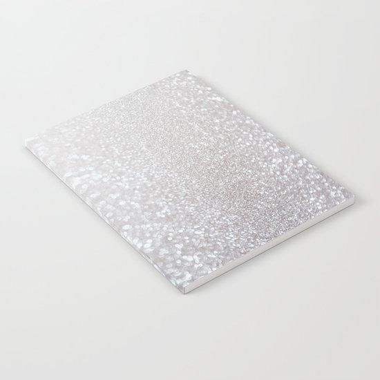 Silver ice - glitter - Luxury design Notebook