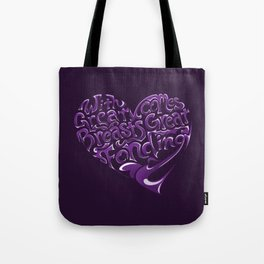 Breast Cancer Awareness Heart Tote Bag