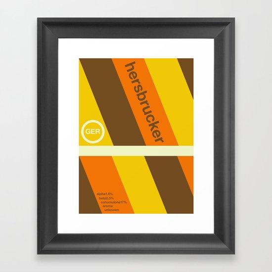 hersbrucker single hop Framed Art Print