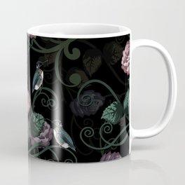 Hummingbird Vines Dark Floral Coffee Mug