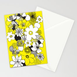 Floral Medley - Yellow Stationery Cards