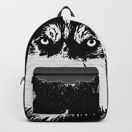 husky dog face grafiti spray art Backpack