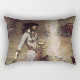 The Magic Circle, John William Waterhouse Rectangular Pillow