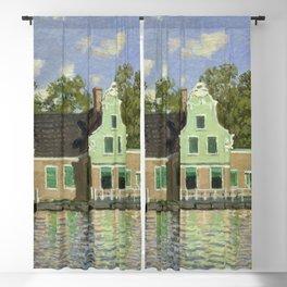 Claude Monet - The House on the River Zaan in Zaandam Blackout Curtain