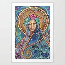 Shakti Creates by Justine Aldersey-Williams Art Print