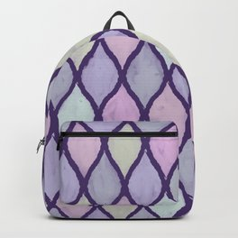 Preppy Wet Pastel Pattern in Dark Purple, Turquoise, Yellow, and Pink Backpack