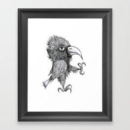 Grouchy Bird Framed Art Print