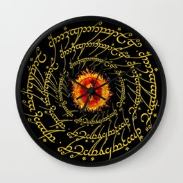 Lord Of The Ring Sauron eye Wall Clock