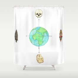 Anthropology: The Four Subdisciplines (Version 1.0) Shower Curtain