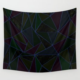 Marble pastel triangles-Gold Wall Tapestry