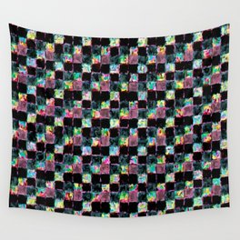 Multicolored Black Patchwork Wall Tapestry