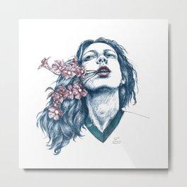 Wort-Blumen Metal Print