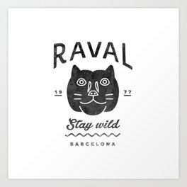 Raval Barcelona Art Print