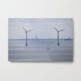 Wind Turbines in Copenhagen Metal Print