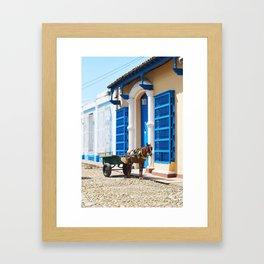 39. Horse Cuban cart, Cuba Framed Art Print