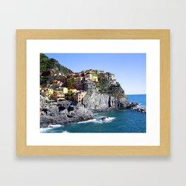 Summer in Cinque Terre Framed Art Print