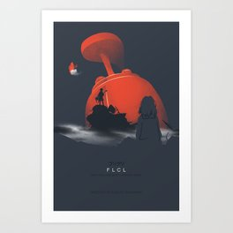 Nothing amazing happens here - poster version Art Print