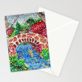 Pointalism Pond Stationery Cards