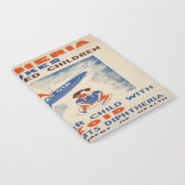 Vintage poster - Diptheria Notebook