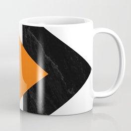 Forward arrows marble orange Coffee Mug