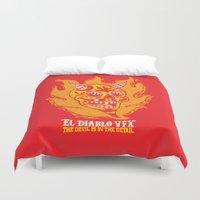 diablo Duvet Covers featuring El Diablo VFX  by El Diablo VFX