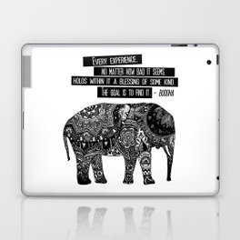 Blessing Buddha Quote Laptop & iPad Skin