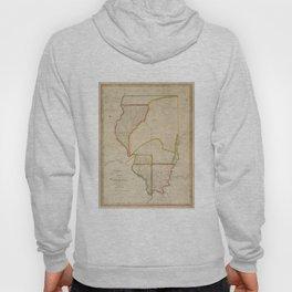 Vintage Map of Illinois (1818) Hoody