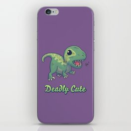 Deadly Cute Raptor iPhone Skin