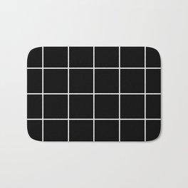 BLACK AND WHITE GRID Bath Mat