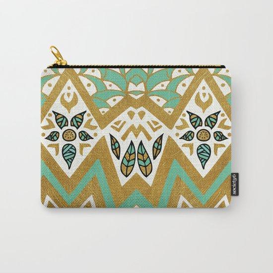 Golden Nature Mandala Carry-All Pouch